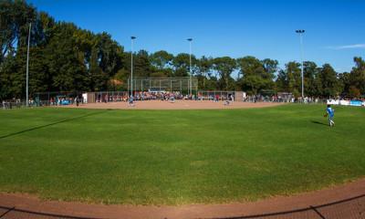 Overzicht van het Noordersportpark in Haarlem.