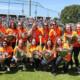 De U22 softbalsters tijdens hun huldiging in het Haarlemse PIm Mulierstadion.