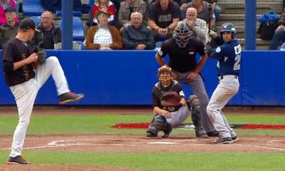 Randolph Oduber sloeg in de tweede inning twee punten over de thuisplaat.