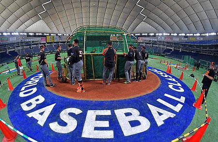 Het Nederlands Koninkrijksteam werkte vandaag een laatste training af in het Tokyo Dome.