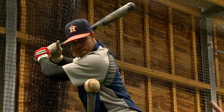 Oliver van der Wijst Severino heeft zijn eerste officiële wedstrijd gespeeld voor de organisatie van Houston Astros.
