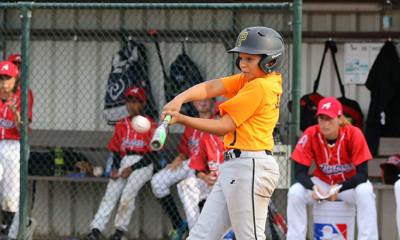 Jamie Beerman (Amsterdam Pirates) zorgde niet alleen voor vijf punten, maar kreeg als pitcher ook de winst op zijn naam.