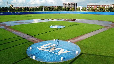 Door de regen konden alle wedstrijden zaterdag niet doorgaan.