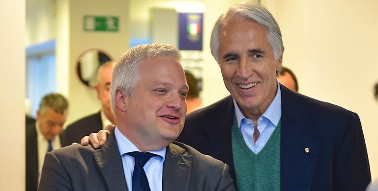 FIBS-voorzitter Andrea Marcon kan de steun van CONI-voorzitter Giovanni Malago nu meer dan ooit gebruiken.