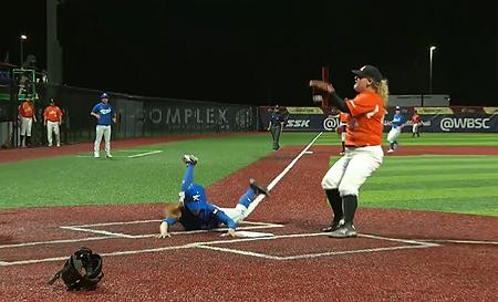 Zuid-Korea scoort het winnende punt na een wilde worp in de zesde inning.