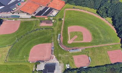 Overzicht van de velden op Sportpark De Kroedkotten in Enschede.