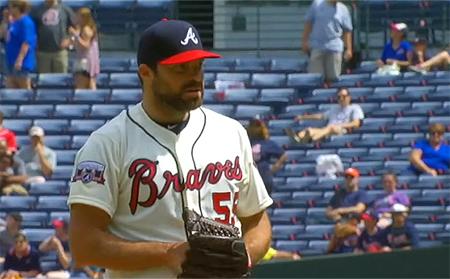 Josh Collmenter speelde twee seizoenen voor Atlanta Braves.
