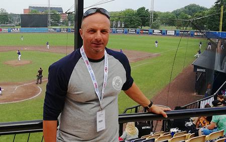 Scheidsrechter Fabrizio Fabrizi tijdens het World Port Tournament.