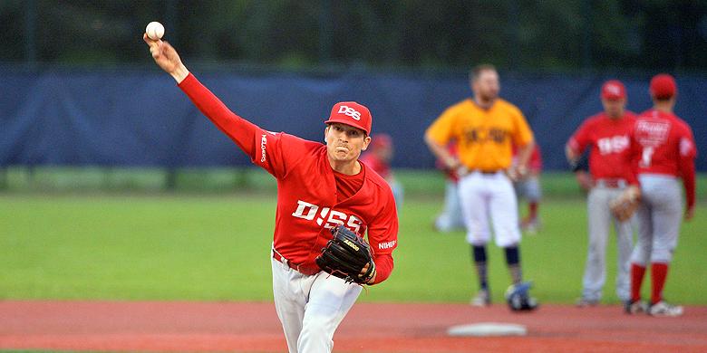 Pitcher Robyn Clara is voor DSS bezig aan zijn derde seizoen in de hoofdklasse.