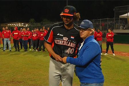 Orlando Yntema werd de pitcher met het beste W/L-gemiddelde.