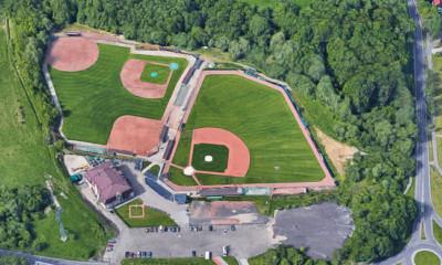 Overzicht van het Arrows Family Park in Ostrava (Tsjechië).