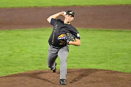 Tom de Blok: vijf strikeouts in twee innings.