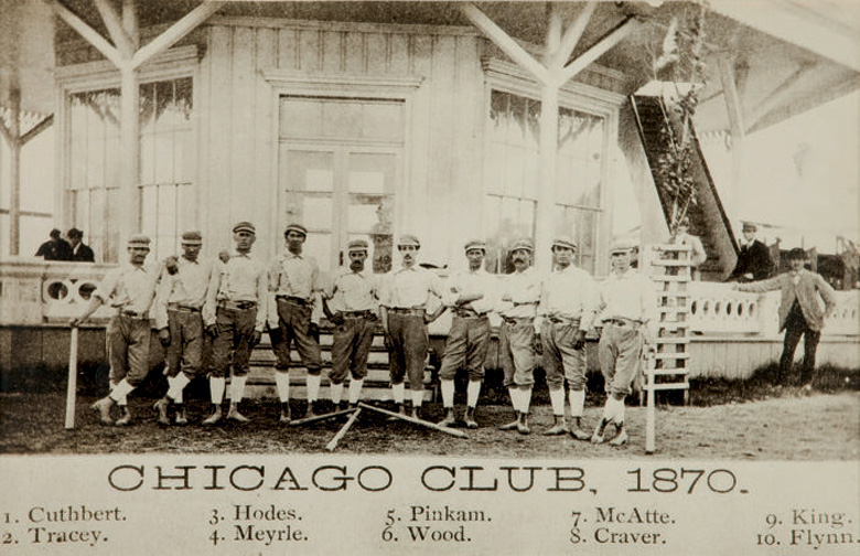 The White Stockings uit Chicago in 1870. Bron: Wikimedia Commons.